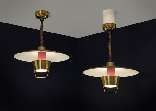 Pair of Ceiling Lights by John C. Virden Lighting Company, circa 1950's
