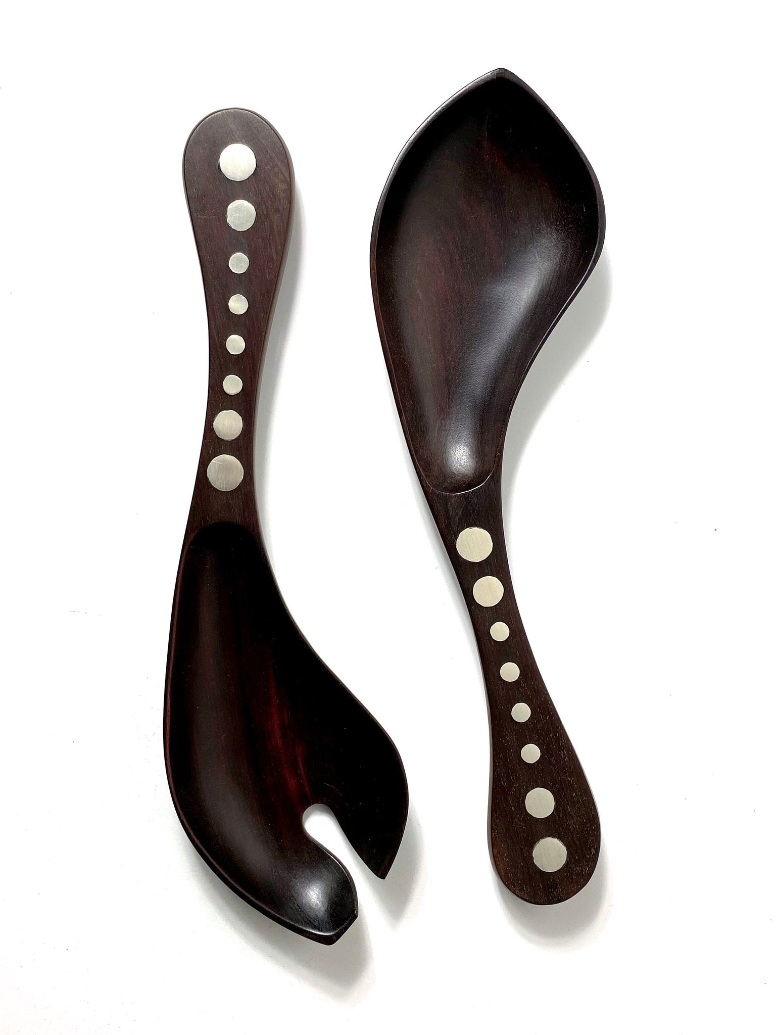 William Spratling Serving Set in Rosewood and Sterling 1950s