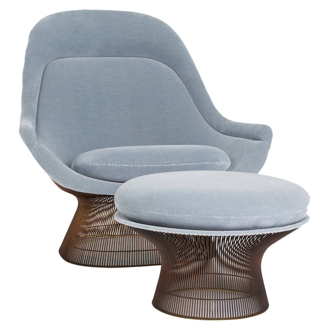 [SOLD] Warren Platner Lounge Chair and Ottoman for Knoll - The Exchange Int