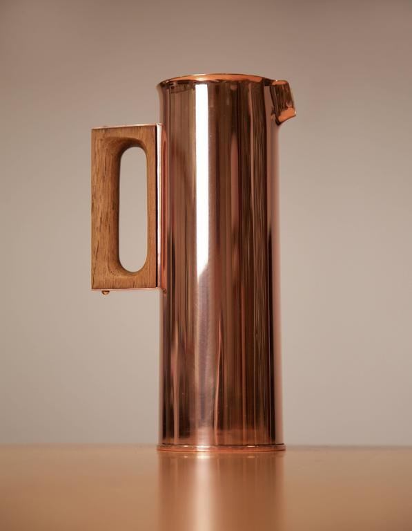 Tapio Wirkkala Rare Copper Pitcher Handmade to Order in Finland 1950s