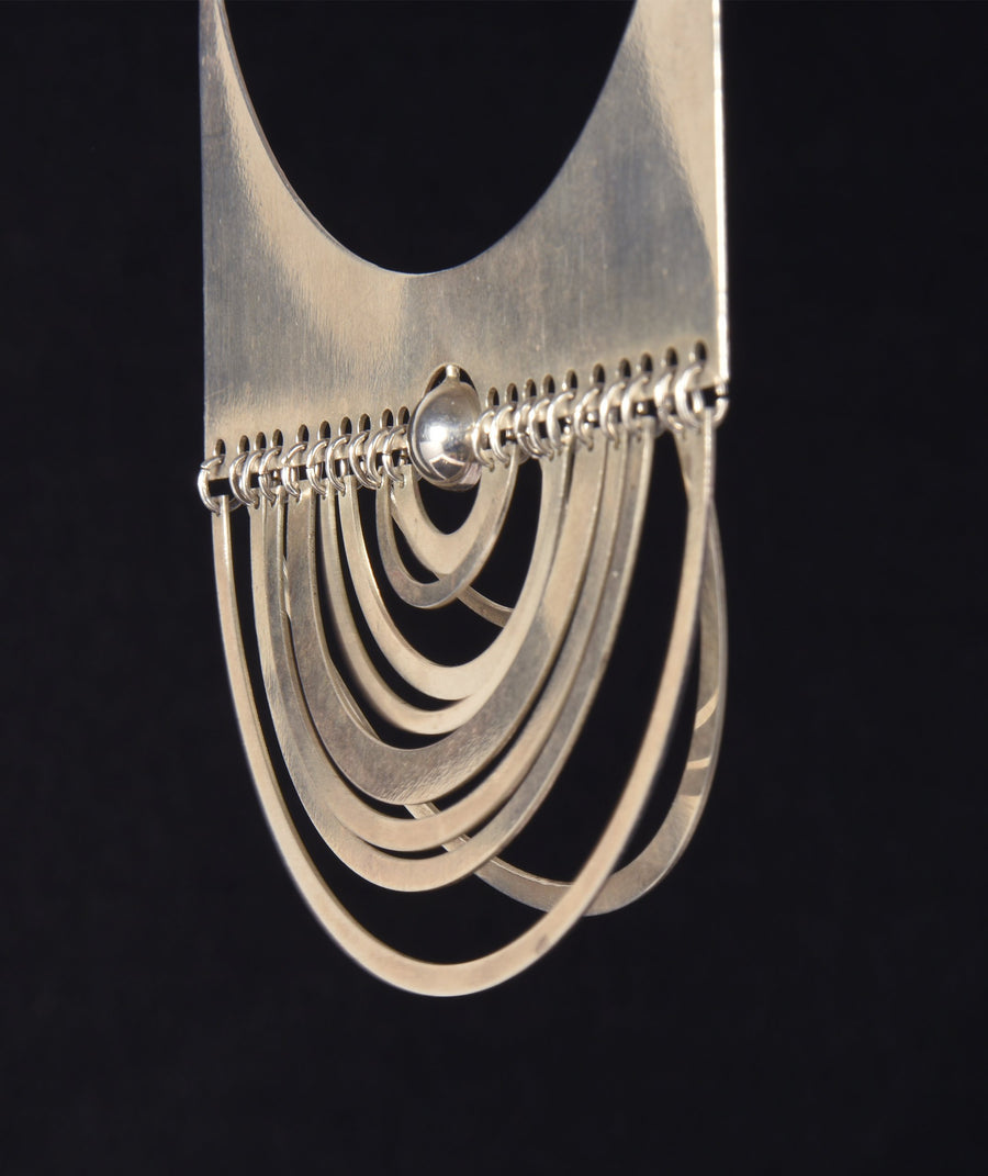 "Early Tapio Wirkkala ""Puolikuu"" Sterling Silver Necklace, 1972"