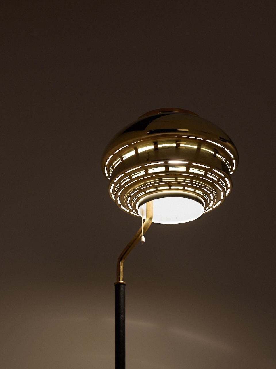 Early Alvar Aalto Floor Lamp Model A808 by Valaistustyö Ky 1950s