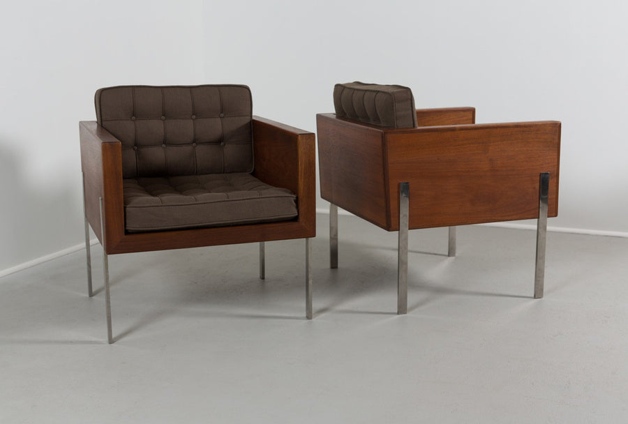 Pair of Harvey Probber Cube Chairs, 1960s