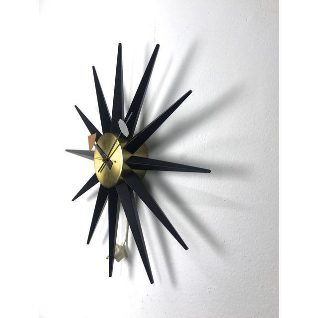 Vintage George Nelson Spike Clock, 1956