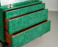 "Early Piero Fornasetti, Rare Illuminated ""Malachite"" Trumeau, 1950s - The Exchange Int"