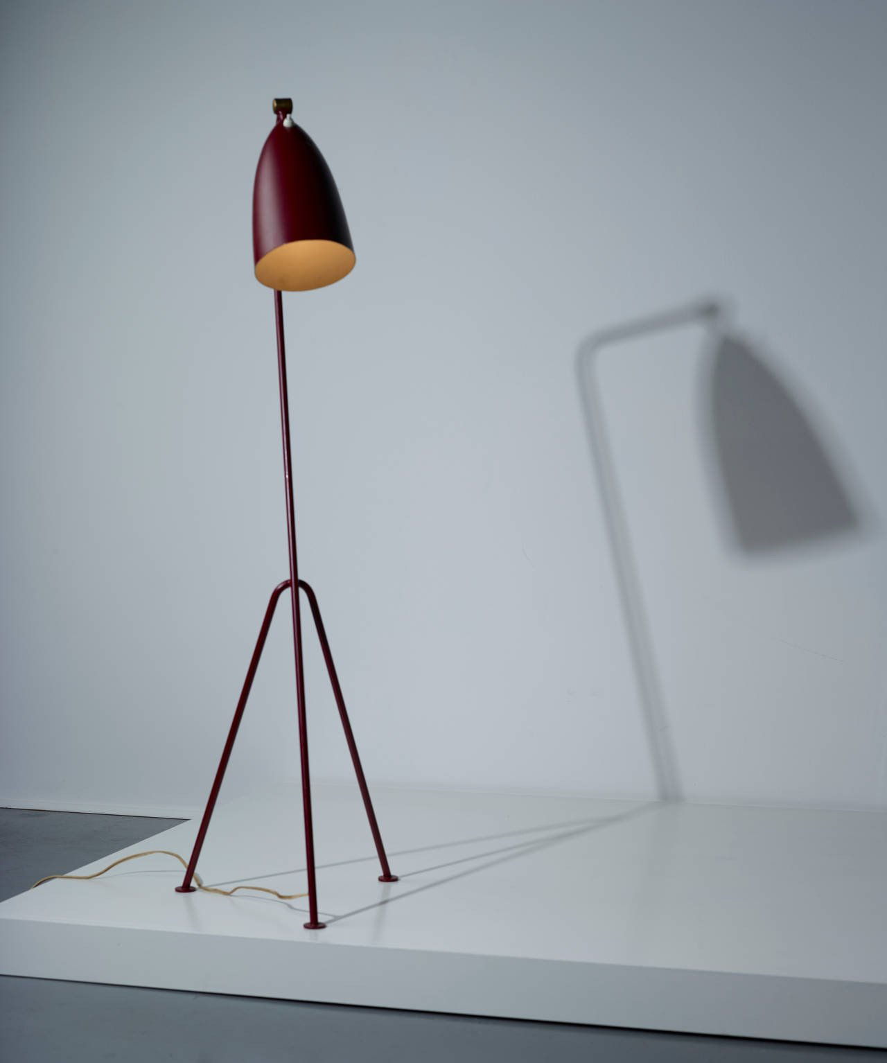 Early Greta Magnusson-Grossman Grasshopper Floor Lamp by Bergboms Malmö Model 831