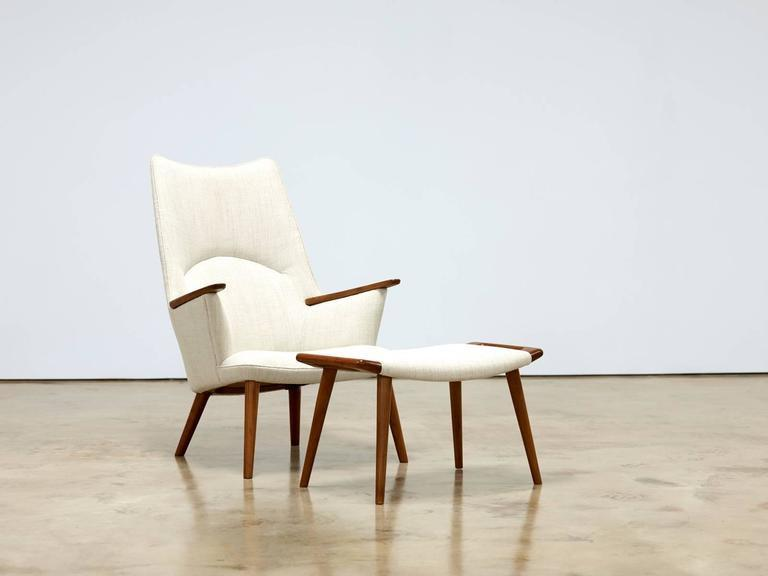 Hans Wegner Chair and Ottoman, Model AP-27, 1950s