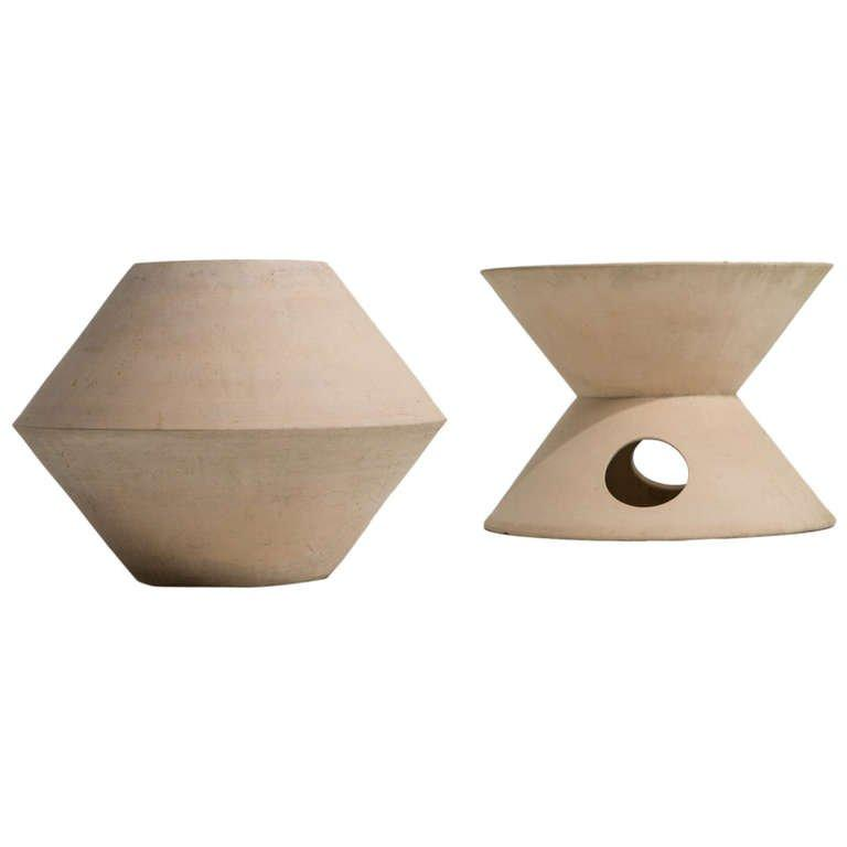 Pair of La Gardo Tackett Planters for Architectural Pottery, 1960s - The Exchange Int