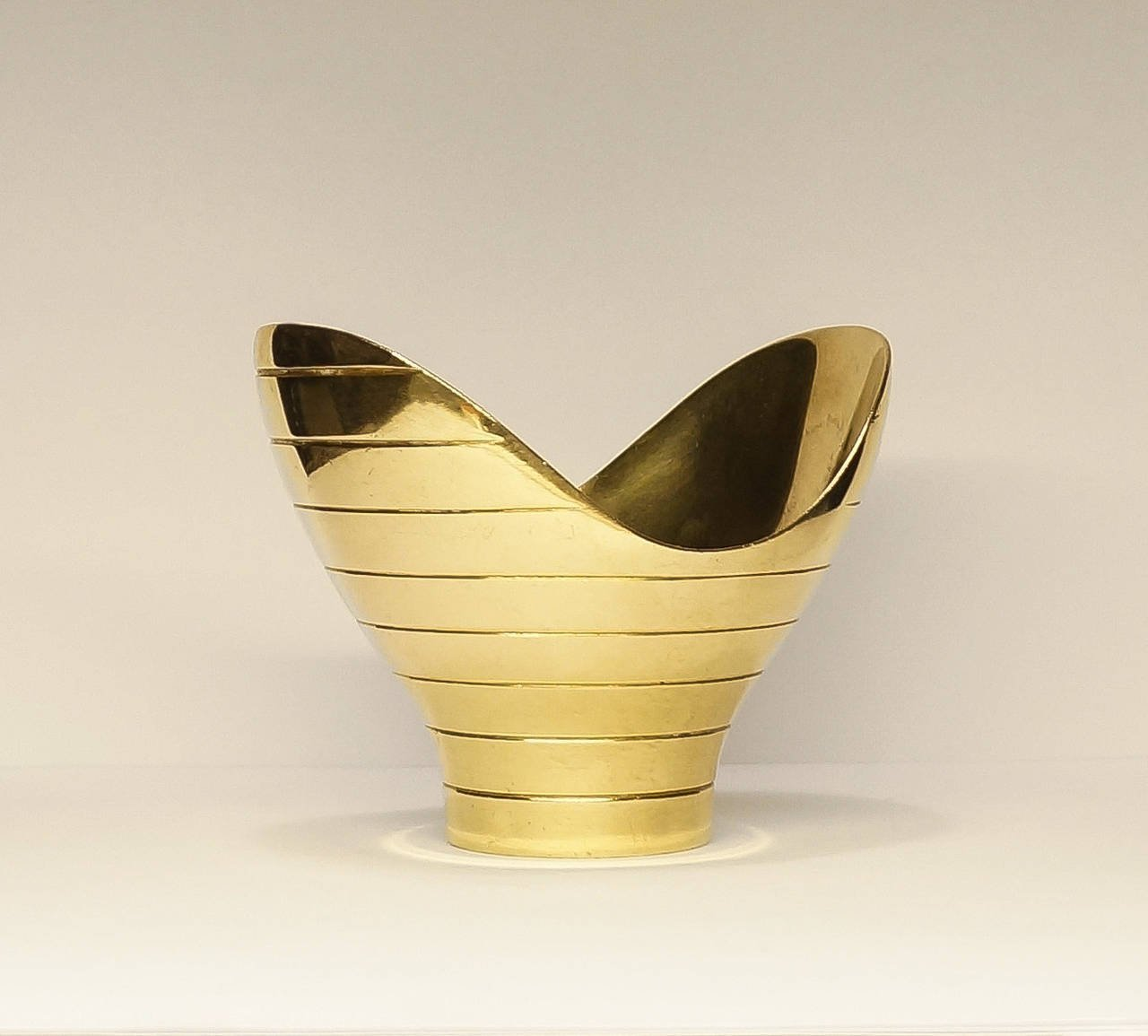 Paavo Tynell Brass Bowl by Taito Oy 1940s