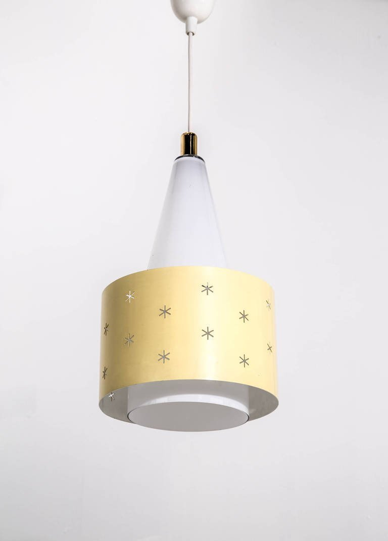 Paavo Tynell Ceiling Pendant Light Model K2 10 circa 1955