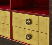 Early Paul Evans Studio Gold Leaf Trim Cabinet, 1965 - The Exchange Int