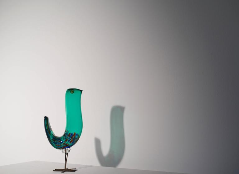 Murano Glass, Alessandro Pianon Sculpture 'Pulcini Bird' for Vetreria Vistosi