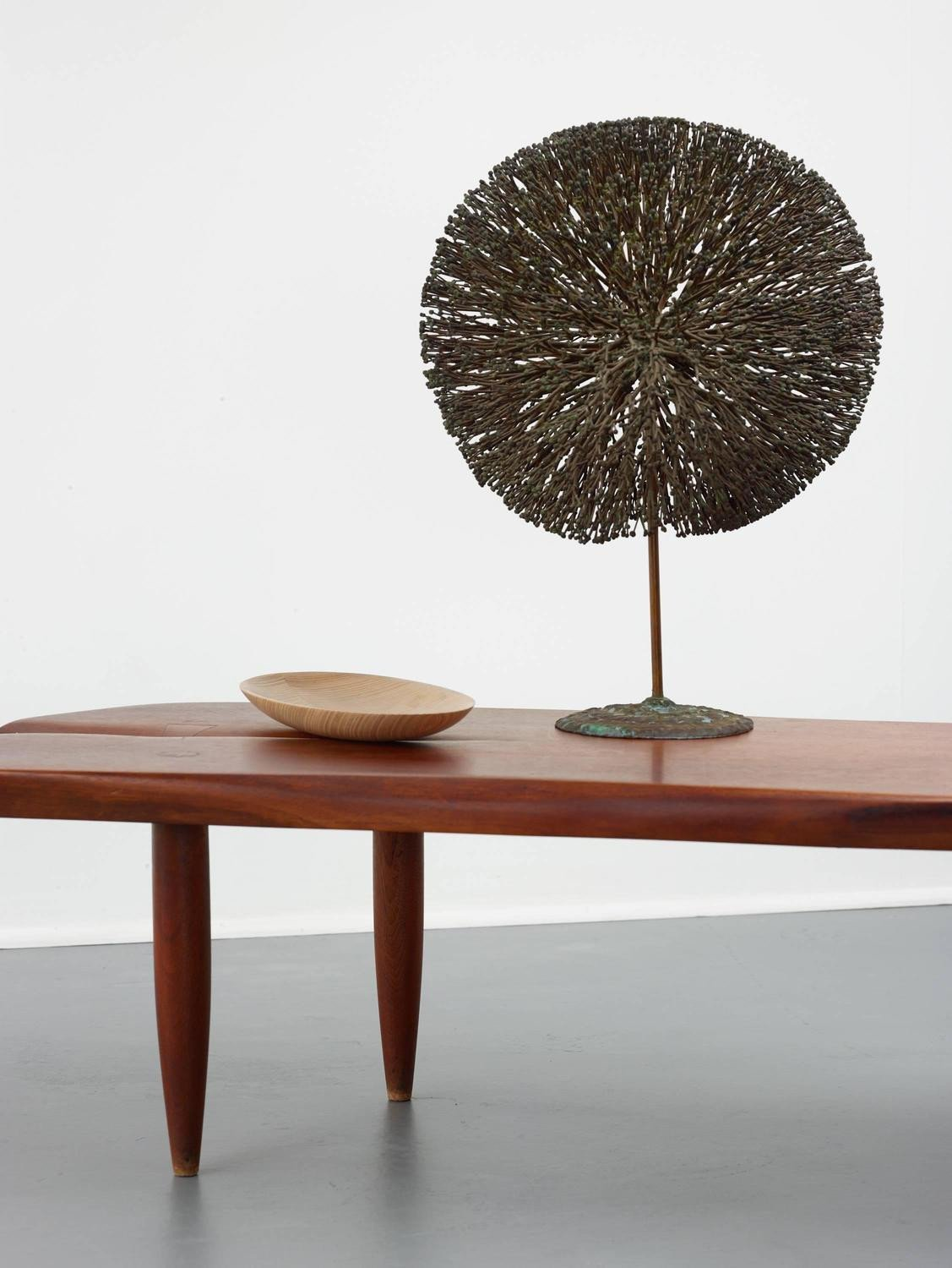 Phillip Lloyd Powell Walnut Bench, Coffee Table, 1960s