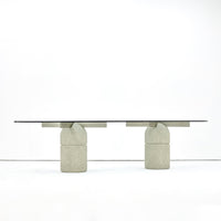 "Giovanni Offredi ""Paracarro"" Dining Table, Sergio and Georgio Saporiti, 1970s - The Exchange Int"