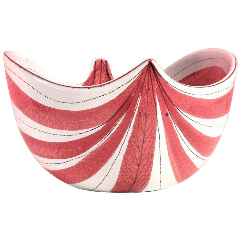 [SOLD] Stig Lindberg for Gustavsberg Studio Faience Leaf Bowl, 1950s - The Exchange Int