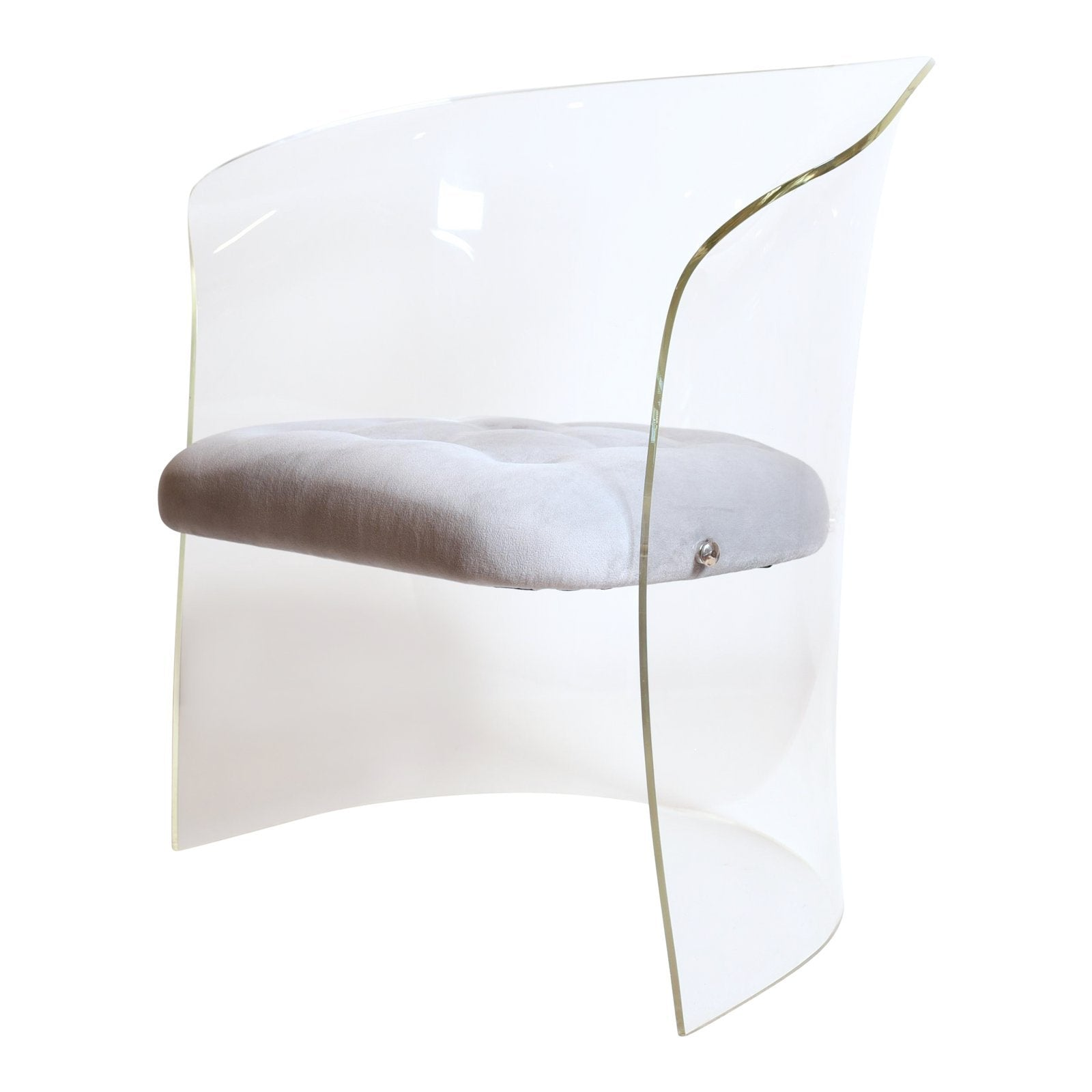 Vladimir Kagan Formed Lucite Chair, circa 1960s - The Exchange Int