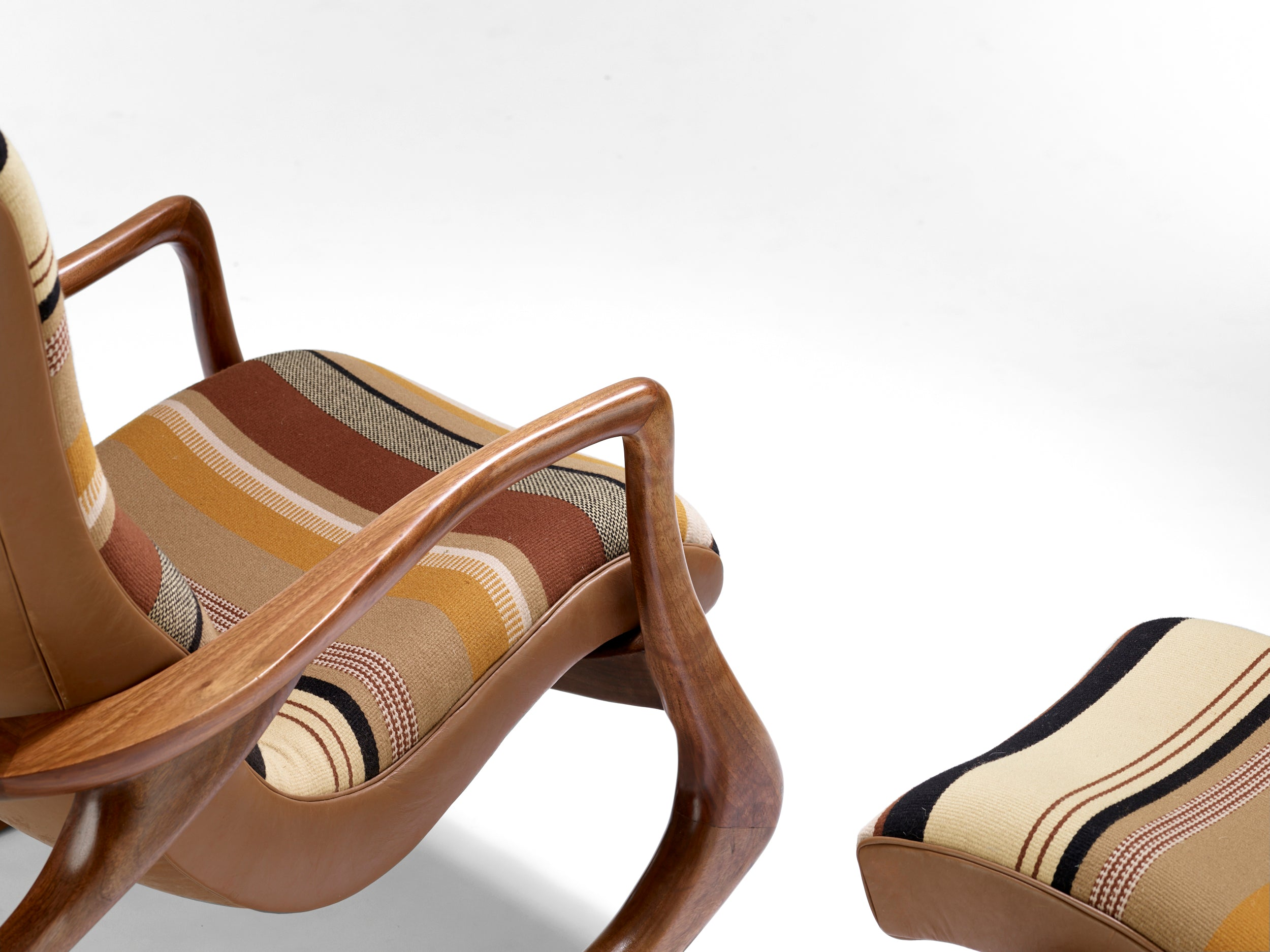 Vladimir Kagan Contour rocking chair and ottoman