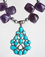 Amethyst & Turquoise Statement Necklace - Vida Jewelry Designs