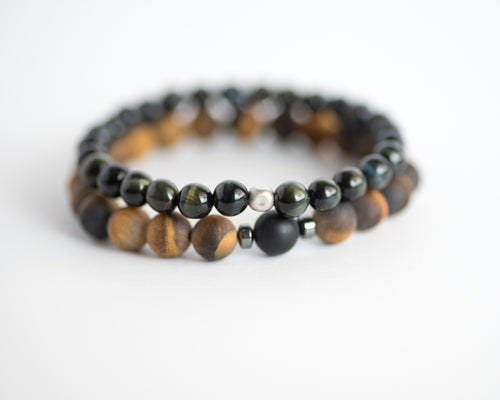 Tiger's Eye Men's Bracelet Set - Vida Jewelry Designs