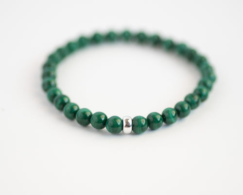 Malachite Men's Gemstone Bracelet - Vida Jewelry Designs