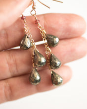Pyrite Teardrop Dangle Earrings - Vida Jewelry Designs
