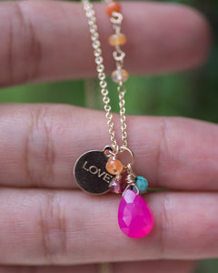 "Zebra Jasper & Garnet Cluster ""Zebra"" Earrings - Vida Jewelry Designs"