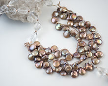 Multi Strand Pearl & Crystal Quartz Statement Necklace - Vida Jewelry Designs