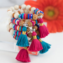 colorful tassel bracelets