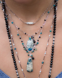 K2 Cluster Gemstone Necklace - Vida Jewelry Designs