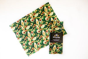 Beeswax Reusable Food Wraps - Single Pack BeesWax Wraps Hiveology Avocados