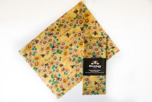Beeswax Reusable Food Wraps - Single Pack BeesWax Wraps Hiveology Daisies and Bees