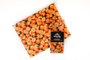 Beeswax Reusable Food Wraps - Single Pack BeesWax Wraps Hiveology Mandarins