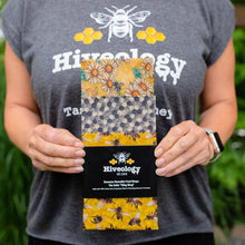 Load image into Gallery viewer, Beeswax Reusable Food Wraps - Three Pack BeesWax Wraps Hiveology Daisies Hexagons & Bees