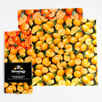 Beeswax Reusable Food Wraps - Two Pack BeesWax Wraps Hiveology