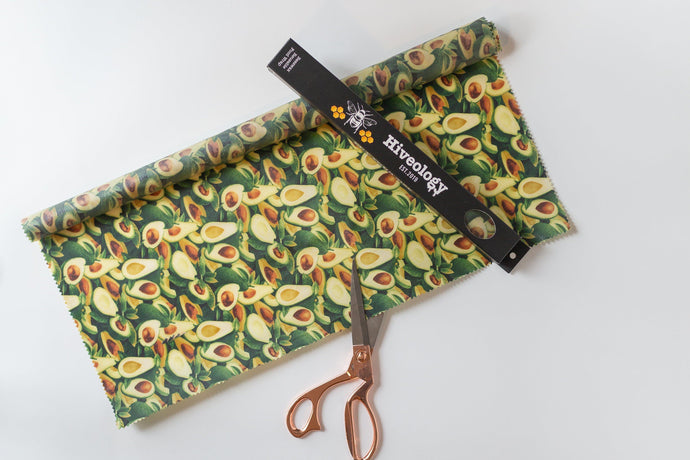 CUT YOUR SIZE - Beeswax Reusable Food Wrap BeesWax Wraps Hiveology Avocado