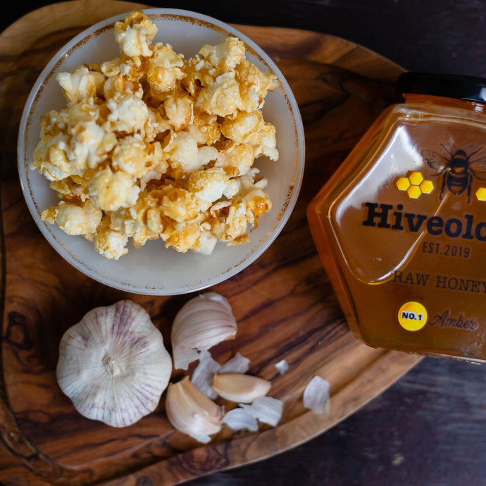 Honey & Garlic Popcorn Honey Popcorn Hiveology