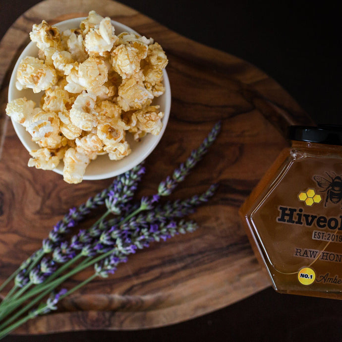 Honey & Lavender Popcorn Honey Popcorn Hiveology