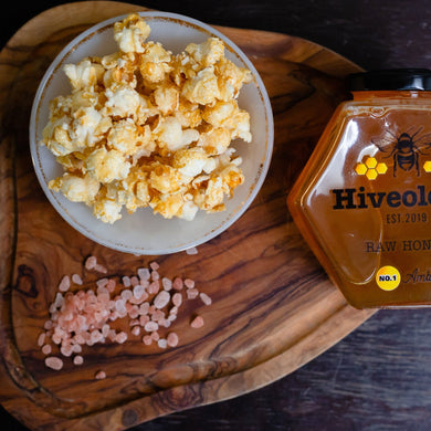 Honey & Salt Popcorn Honey Popcorn Hiveology