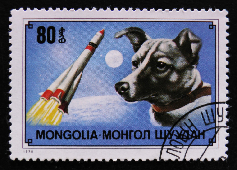 Laika Space Dog Stamp
