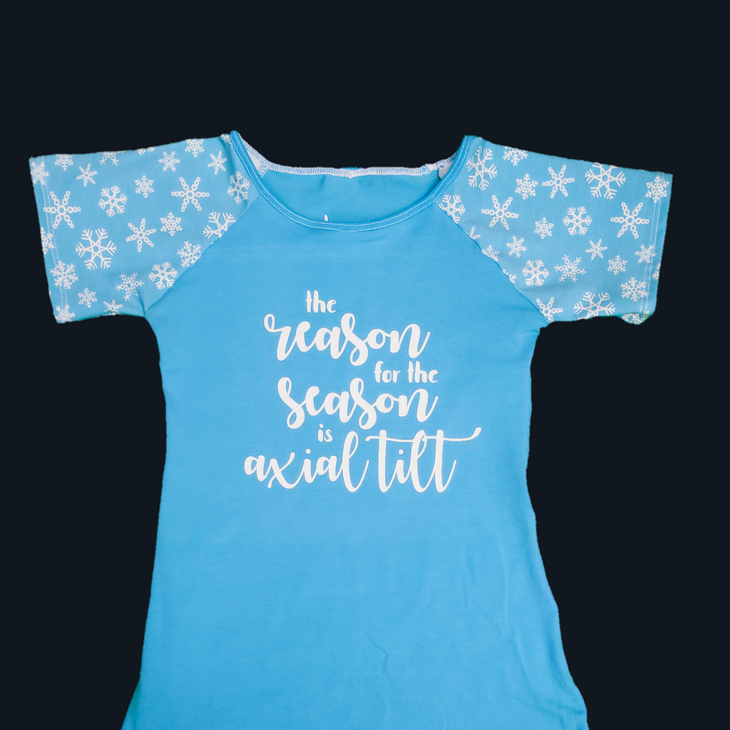The Reason for the Season is Axial Tilt Children's T-Shirt at Quark and Atom