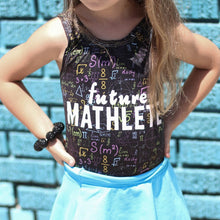Load image into Gallery viewer, future mathlete shirt, STEAM clothing for girls or boys at quark and atom