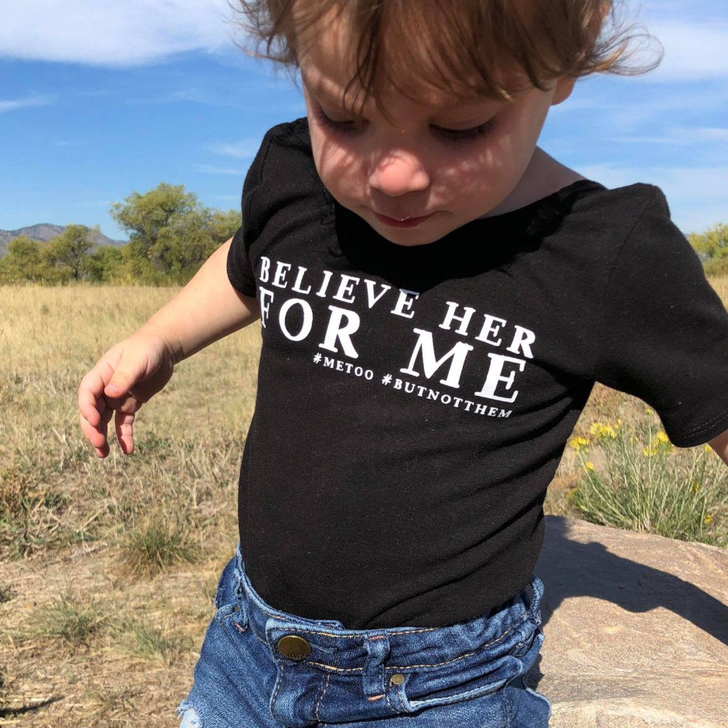 believe her for me leotard, #metoo, #ibelieveher, girl's handmade clothing at quark and atom