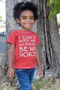 I can't vote yet so please be my voice, political kids shirt, pro voting shirt, vote for the future