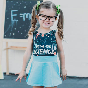 Because Science Leotard, STEAM Leotard for Girls at Quark and Atom
