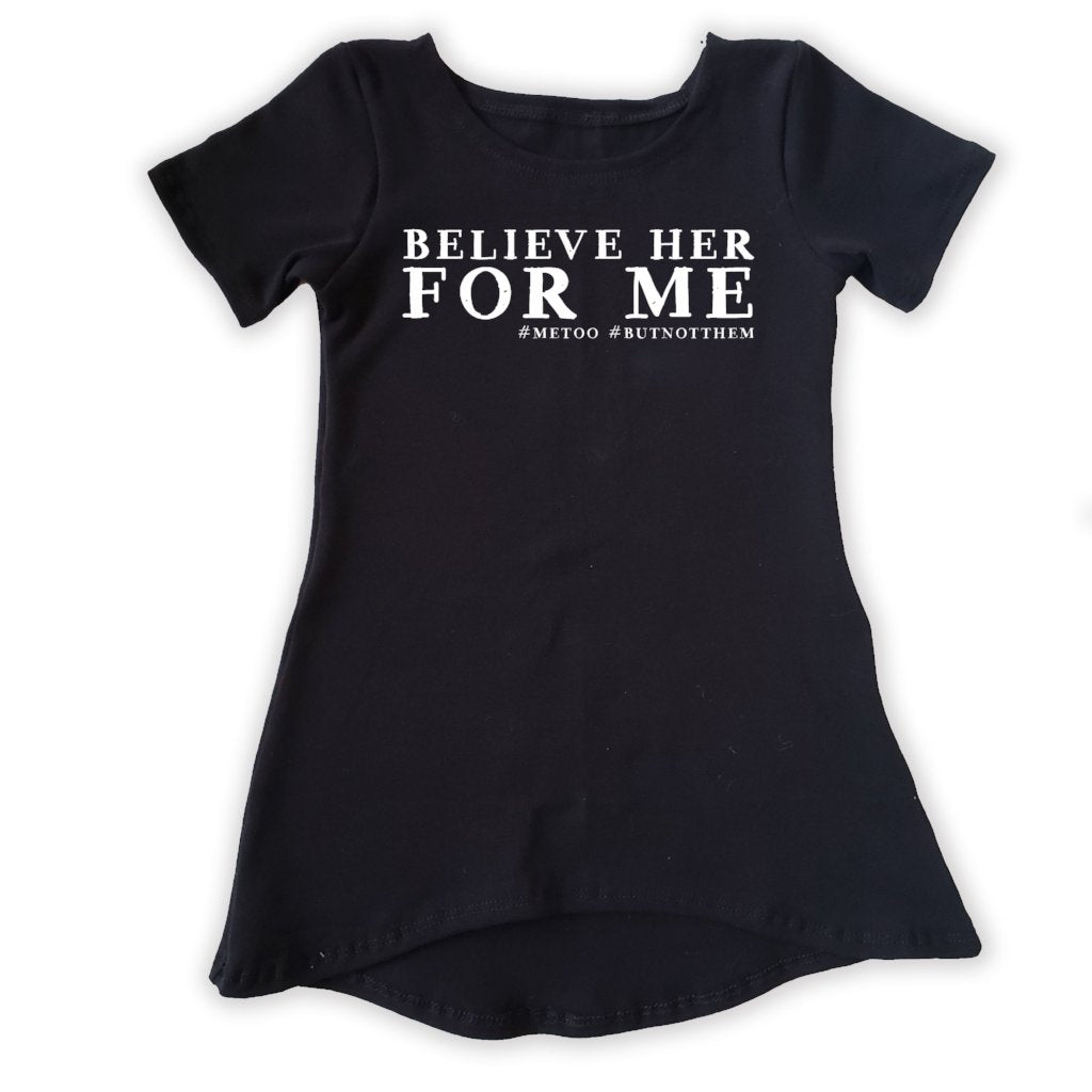 believe her for me dress, #metoo, #ibelieveher, girl's handmade clothing at quark and atom