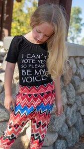 I can't vote yet so please be my voice, political kids leotard, pro voting leotard, vote for the future