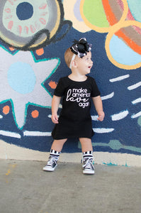 make america love again dress, kids political dress, #mala, political clothing for girls at quark and atom