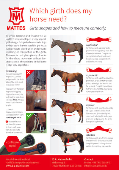 Mattes Girth Western Cinch Crescent