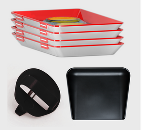 Bundle offer #2: 4 pieces of CleverTrays, high-edged cutting board and an ergonomic peeler.