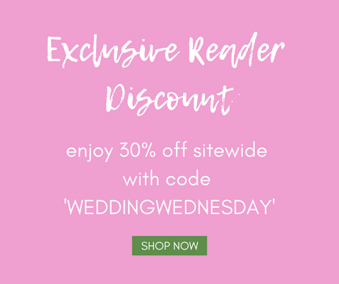 Moon and Lola Exclusive Wedding Wednesday Blog Discount